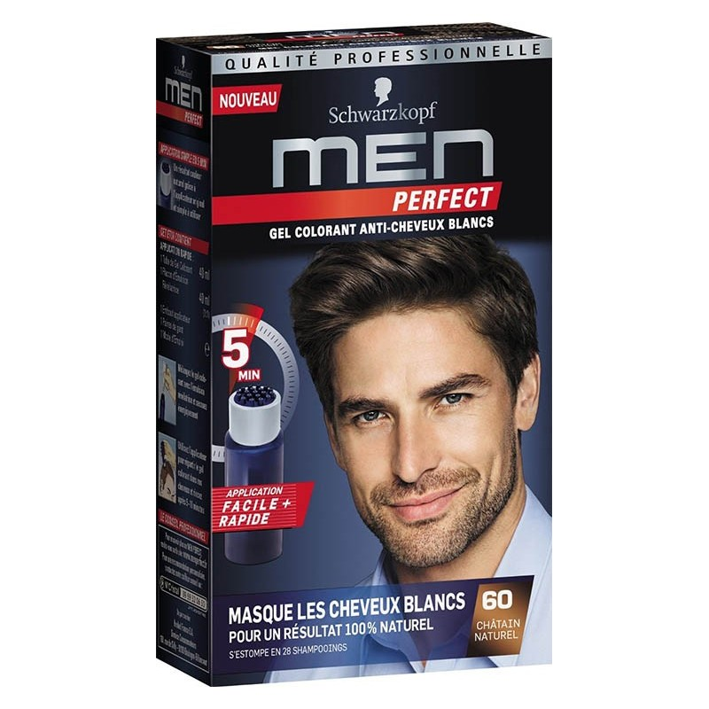 get colorant anti cheveux blancs men perfect schwarzkopf - Gel Colorant Cheveux Homme